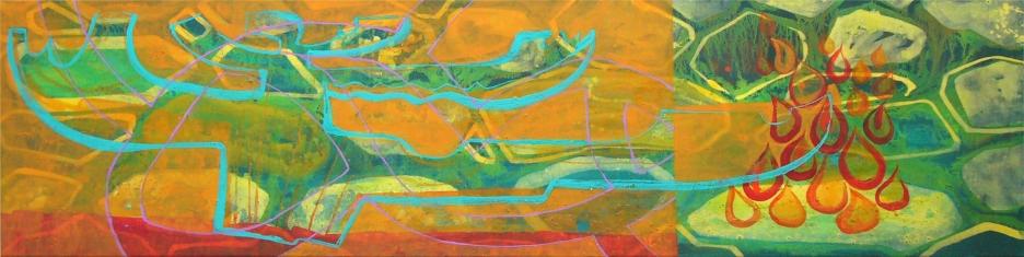 2010clima-en-equilibrio-acrl-tela-40x160-rosado_5430249024_o